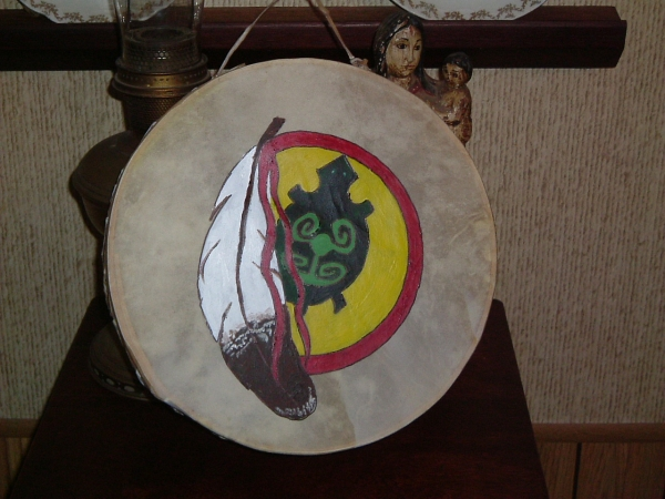 Hand Drum painted by Berry